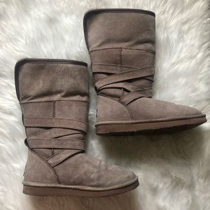 Lamp Suede Tall Boots (Grey)